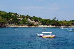 Overzees en strand in Bali Stock Foto's