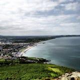 Overzees en strand in Dublin Stock Foto's