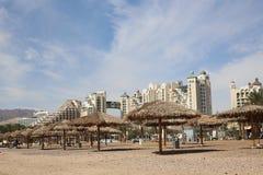 Overzees en Strand, Hotels Stock Foto