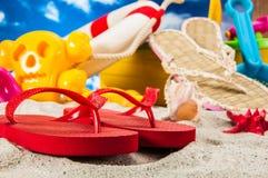 Overzees en strandthema Stock Afbeelding