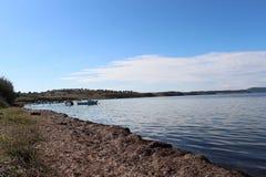 Overzees en vissers stock afbeelding