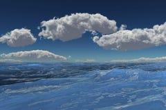 Overzees en wolken royalty-vrije illustratie