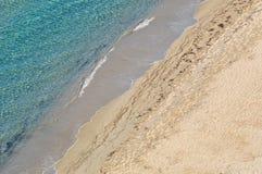 Overzees en zand Stock Afbeeldingen