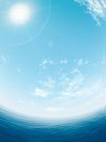 Overzees en zon Stock Afbeeldingen