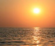Overzees en zonsondergang Stock Afbeeldingen