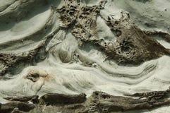 Overzees gebeeldhouwde klip in de Eilanden van Shetland Royalty-vrije Stock Foto