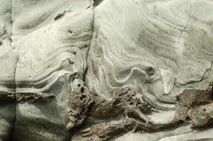 Overzees gebeeldhouwde klip in de Eilanden van Shetland Stock Afbeeldingen