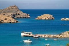 Overzees in Griekenland Stock Foto's
