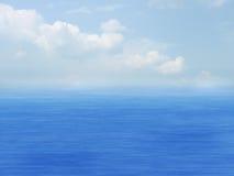 Overzees, hemel en wolken Royalty-vrije Stock Afbeelding