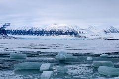 Overzees Ijs en Gletsjer, Svalbard Royalty-vrije Stock Fotografie