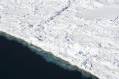 Overzees ijs op Antarctica Royalty-vrije Stock Afbeelding