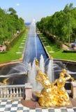 Overzees Kanaal in Peterhof-Paleis Stock Fotografie