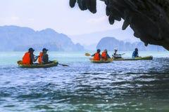 Overzees Kayaking Stock Foto's