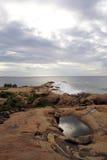 Overzees kust en meer Royalty-vrije Stock Fotografie