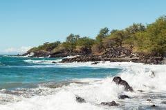 Overzees kustlandschap in Hawaï Stock Afbeelding