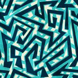 Overzees labyrint naadloos patroon Stock Foto's
