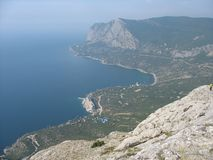 Overzees landschap Stock Afbeeldingen