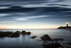 Overzees landschap. stock afbeelding