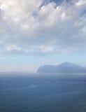 Overzees landschap stock afbeelding