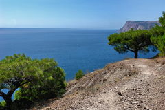Overzees landschap dichtbij Balaklava Royalty-vrije Stock Fotografie