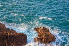 Overzees landschap in het Noorden van Spanje stock foto