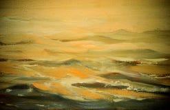 Overzees landschap, illustratie, het schilderen Royalty-vrije Stock Foto