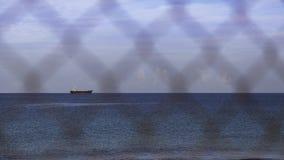 Overzees landschap met MV van het schipwrak demitrios II royalty-vrije stock afbeelding