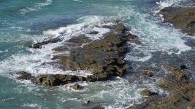 Overzees landschap met rotsen Royalty-vrije Stock Afbeelding