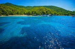 Overzees landschap met strand Stock Afbeelding