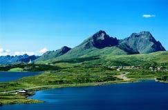 Overzees landschap Noorwegen Stock Fotografie