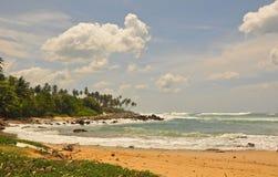 Overzees landschap in Tangalla (zuidelijk Sri Lanka) Stock Foto's
