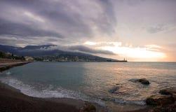 Overzees landschap in Yalta Stock Afbeeldingen