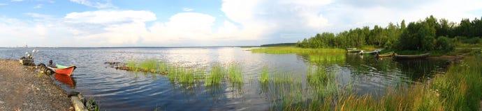 Overzees landschapspanorama Stock Afbeelding
