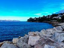 Overzees in Mallorca royalty-vrije stock afbeelding