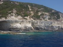 Overzees mening, van Paxos en van Antipaxos eiland, Griekenland Royalty-vrije Stock Foto's