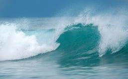 Overzees met golven royalty-vrije stock foto