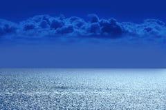 Overzees met wolken Royalty-vrije Stock Foto