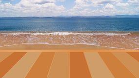Overzees met zonneschijn in oranje en violette kleur Stock Foto's
