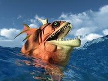 Overzees Monster Stock Foto's