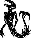 Overzees Monster - vectorillustratie. Vinyl-klaar. Royalty-vrije Stock Afbeelding