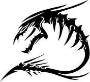 Overzees Monster - vectorillustratie. Vinyl-klaar. Royalty-vrije Stock Foto