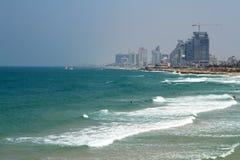 Overzees panorama van Tel Aviv, Israël Stock Foto's