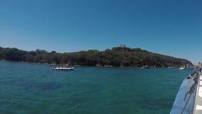 Overzees in Porto Azzurro Elba Island stock footage