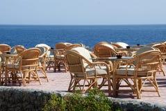 Overzees restaurant Royalty-vrije Stock Foto