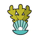 Overzees shell geïsoleerd pictogram Royalty-vrije Stock Foto