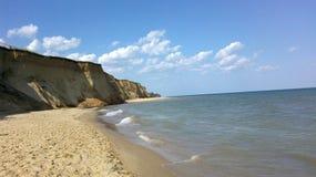Overzees strand †‹â€ ‹ Hemel Stock Afbeelding