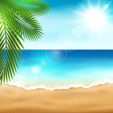 Overzees strand Stock Afbeelding