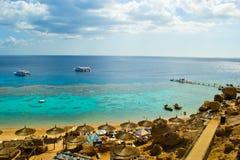 Overzees strand Royalty-vrije Stock Afbeelding