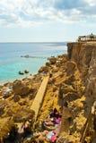 Overzees strand Royalty-vrije Stock Afbeeldingen