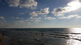 Overzees strand Royalty-vrije Stock Foto's